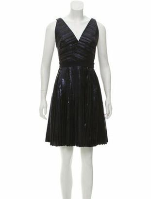 Proenza Schouler Pleated Mini Dress Blue
