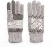 Isotoner Women's Snowflake Chenille Tech Gloves