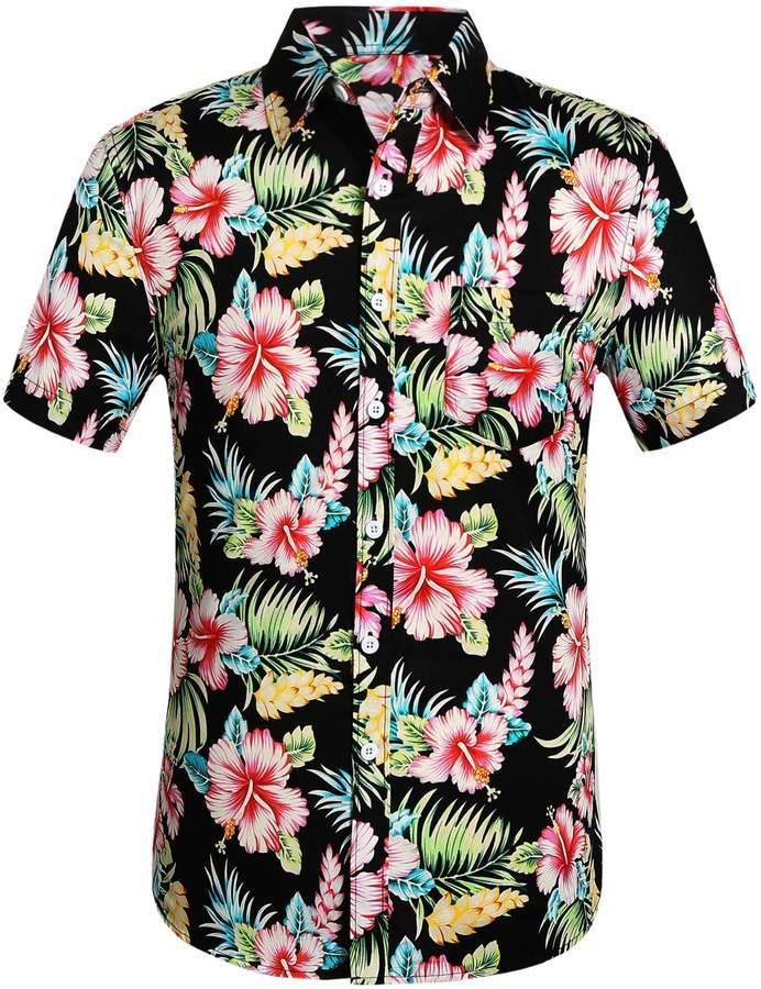 5e1db1b97 Mens Red Hawaiian Shirt - ShopStyle Canada