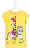 Moschino Kids - printed T-shirt dress - kids - Cotton/Spandex/Elastane - 12 yrs