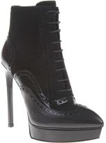 Saint Laurent 'Janis' brogue detail ankle boot