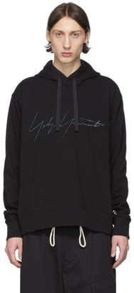 Y-3 Black Distressed Signature Hoodie