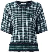 Dorothee Schumacher checked couture knit T-shirt