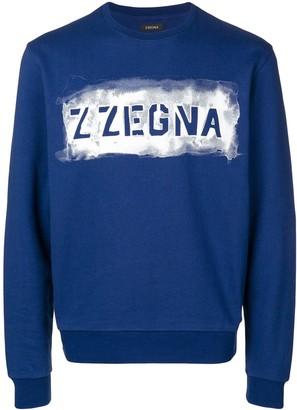 Ermenegildo Zegna Logo Print Sweatshirt