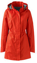 Lands' End Women's Plus Size Transitional Spring Coat-Zesty Orange