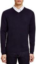 Glenshiel Silk Cashmere V-Neck Sweater