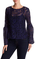 Gracia Floral Embroidered Bell Sleeve Blouse
