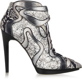 Pierre Hardy Dégradé elaphe and printed leather ankle boots