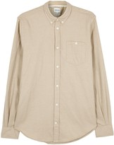 Norse Projects Osvald Camel Brushed Cotton Shirt