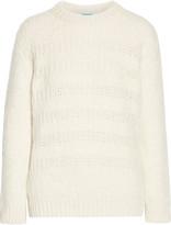 MiH Jeans Dryden open knit-trimmed alpaca-blend sweater