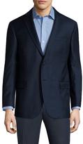 Brooks Brothers Wool Grid Notch Lapel Sportcoat