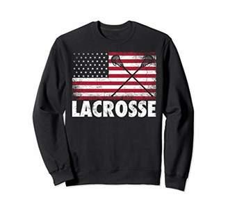 LaCrosse 4th of July Gift American Flag USA Patriotic Gift Sweatshirt