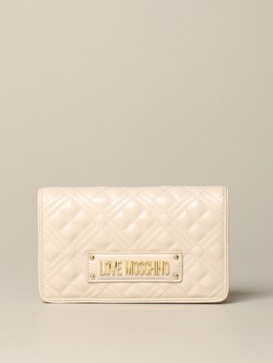 Love Moschino Bag In Quilted Leather With Logo