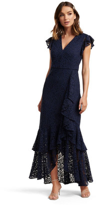 Forever New Audrey Lace Ruffle Maxi Dress