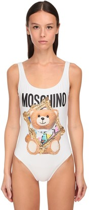 Moschino Bear Printed One Piece Swimsuit