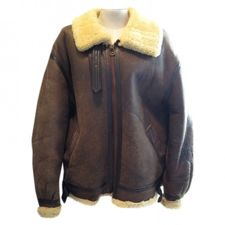 Avirex Brown Shearling Jacket for Women