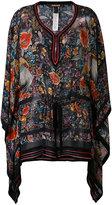 Roberto Cavalli floral print drawstring tunic - women - Silk/Viscose - 40