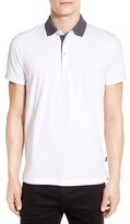 BOSS Men's Trim Fit Contrast Collar Polo