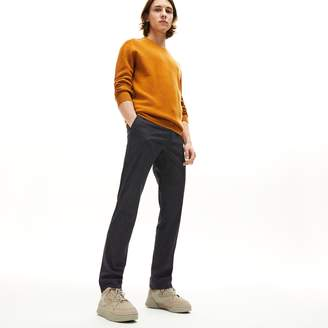 Lacoste Men's Slim Fit Check Wool Blend Chino Pants