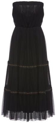 Nissa Strapless Lace Midi Dress