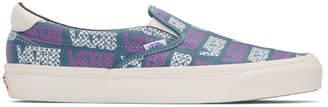 Vans Blue and Purple Logo Checkerboard OG Slip-On 59 LX Sneakers