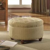 Asstd National Brand Roslyn Tufted Round Storage Ottoman
