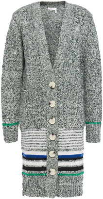 See by Chloe Striped Marled Cotton-blend Cardigan