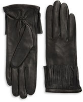 Michael Kors Fringe Cuff Leather Driving Gloves