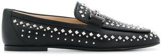 Tod's studded double T loafers