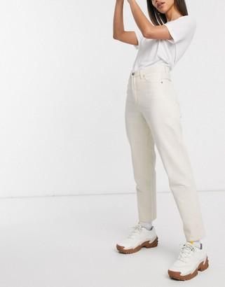 Monki Taiki high waist mom jeans with organic cotton in ecru