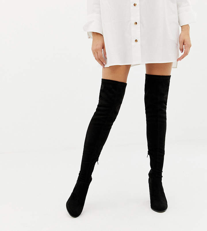 83b0affaa96 Design DESIGN Wide Fit Kassidy heeled over the knee boots