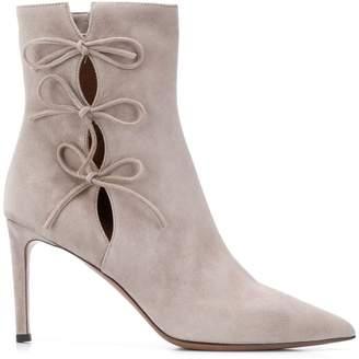 L'Autre Chose string bow ankle boots