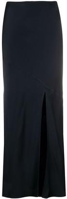 Andamane Eve bias-cut satin midi skirt