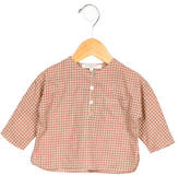 Caramel Baby & Child Girls' Checkered Long Sleeve Top