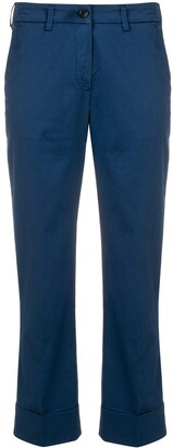 Fay Cropped Mid Rise Trousers