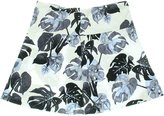 Kensie Womens Jersey Floral Print A-Line Skirt White L