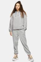 Topshop Womens Considered Grey Recycled Hoodie - Grey Marl