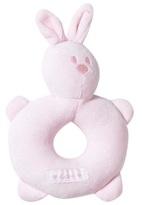 Emile et Rose Pink Velour Bunny Rattle
