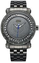 JBW Men's J6338C Hendrix Japanese Movement Stainless Steel Real Diamond Watch - Black