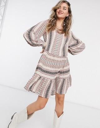 Vila smock dress in boho print