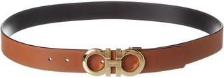 Salvatore Ferragamo Double Gancini Reversible & Adjustable Leather Belt