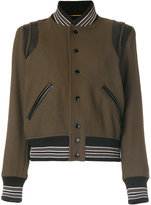 Saint Laurent classic Teddy jacket - women - Cotton/Lamb Skin/Polyamide/Virgin Wool - 38