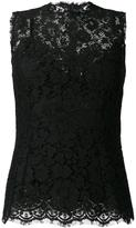 Dolce & Gabbana lace tank top - women - Silk/Cotton/Polyamide/Viscose - 40