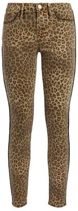 Frame Leopard Print Le Skinny de Jeanne Jeans
