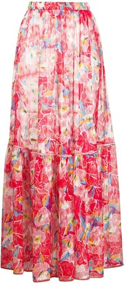 Missoni Mare Abstract Floral-Print Maxi Skirt