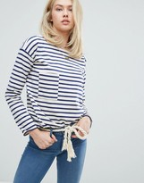 MiH Jeans Pocket Breton Stripe Long Sleeved Tee