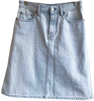 Acne Studios Bla Konst Blue Cotton Skirt for Women