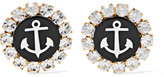 Dolce & Gabbana Gold-tone, Swarovski Crystal And Resin Clip Earrings - one size