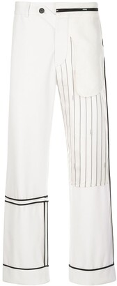Monse Inside-Out Patchwork Trousers