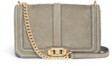 Rebecca Minkoff 'Love' quilt embossed nubuck leather crossbody bag